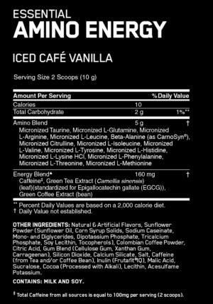 OPTIMUM NUTRITION ESSENTIAL AMINO ENERGY – ICED CAFE VANILLA