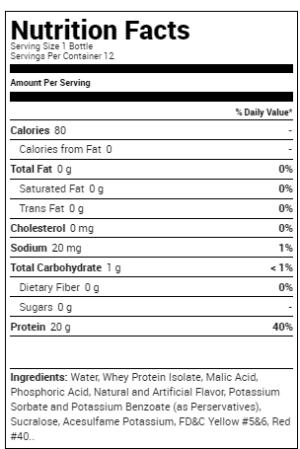 OPTIMUM NUTRITION PROTEIN WATER – ORANGE FREEZE 12 EA