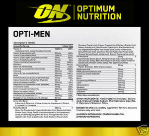 OPTIMUM NUTRITION OPTI-MEN – 240 EA