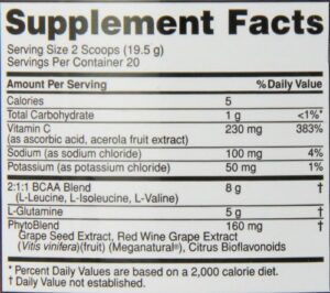 OPTIMUM NUTRITION PRO SERIES PRO BCAA – RASPBERRY LEMONADE