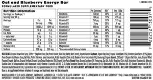 CLIF ENERGY BAR – BLUEBERRY CRISP