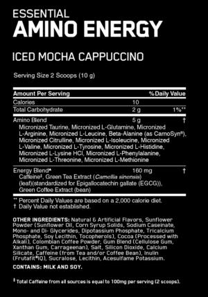 OPTIMUM NUTRITION ESSENTIAL AMINO ENERGY – ICED MOCHA CAPPUCCINO